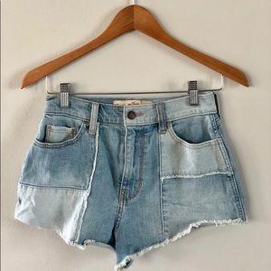 Hollister Vintage Shorts High Rise Denim Jean 24